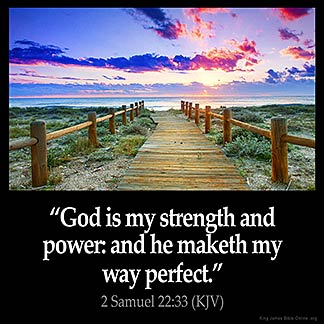 2-Samuel_22-33 God is my strenght and power