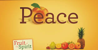Peace fruit of the spirit