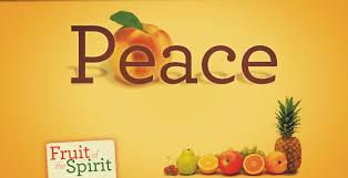 Peace fruit of the spirit